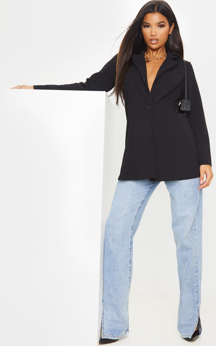 Black Oversized Boyfriend Blazer 4
