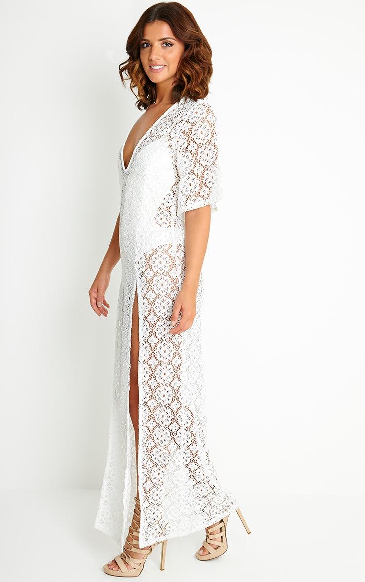 Shona Cream Crochet Maxi Dress 4