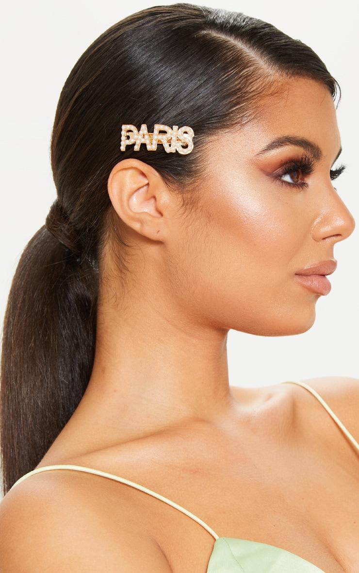 Gold Pearl Paris Hair Clip 1