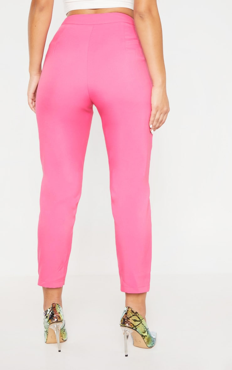 Bubblegum Pink Cropped Pants  5