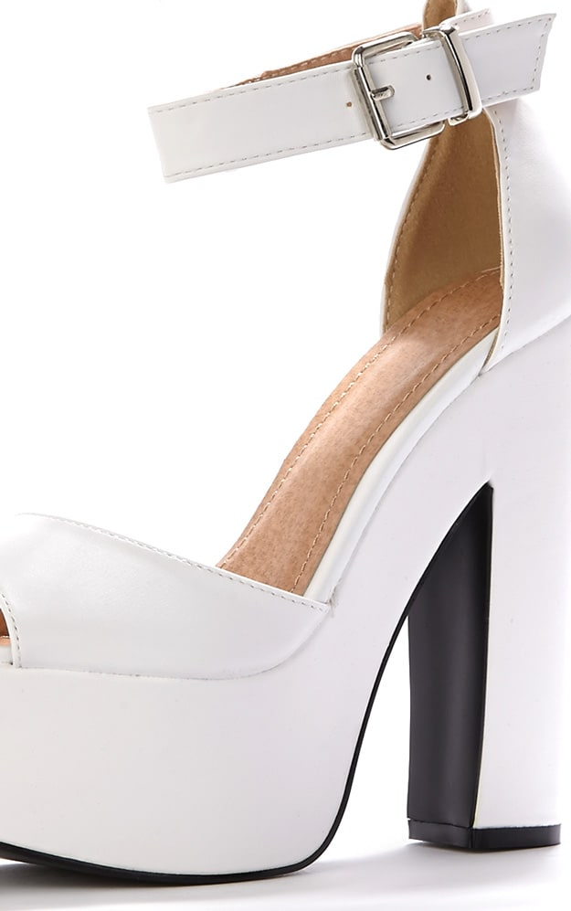 Madison White Platform Sandal 4