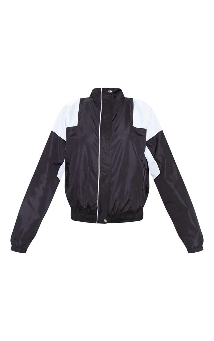Black Oversized Shell Tracksuit Jacket 3