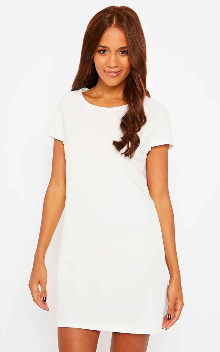 Camila Cream Loose Fit Shift Dress 1