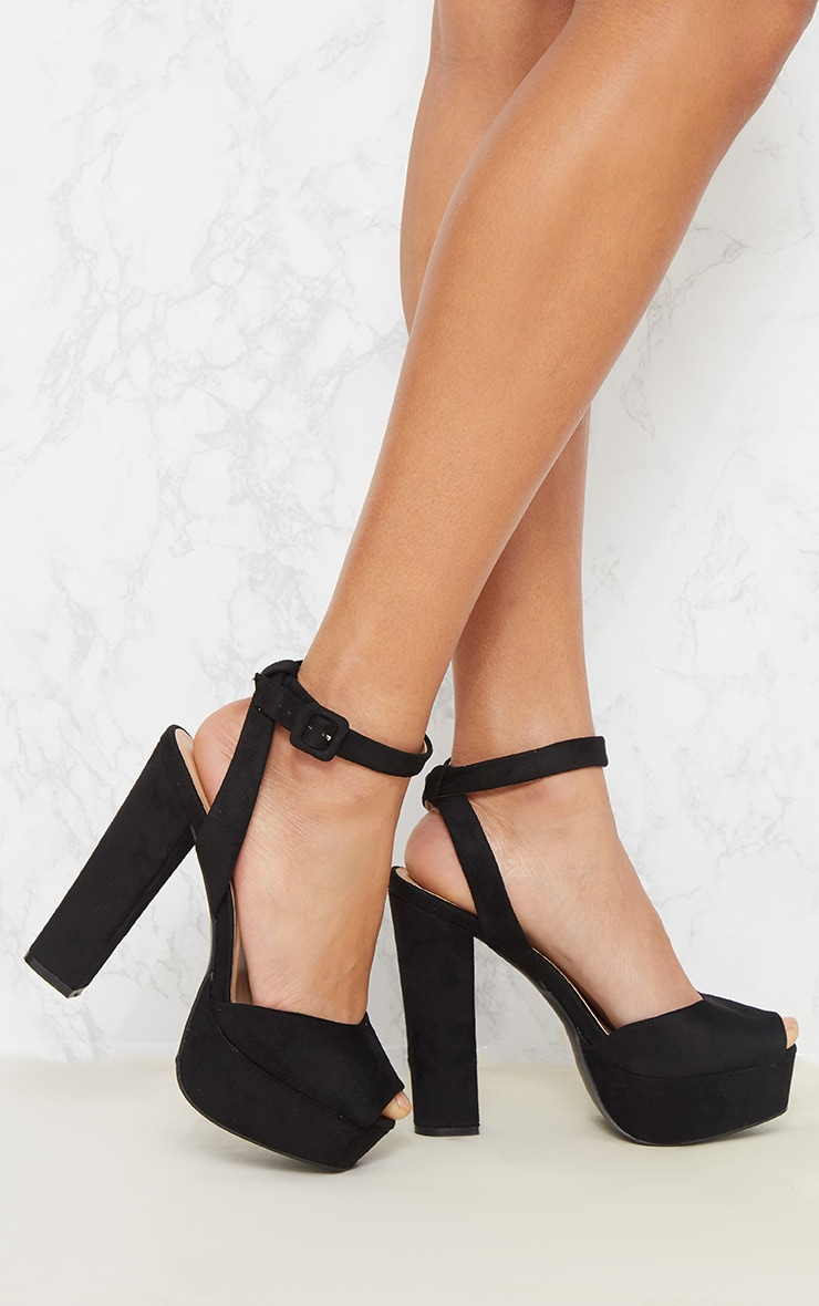 Black Platform Sandal 1