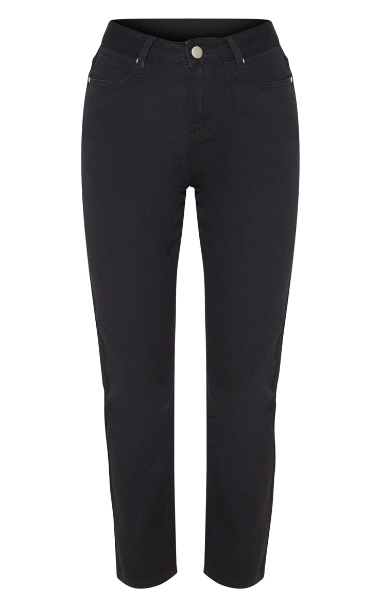 Black Basic Straight Leg Jean 3