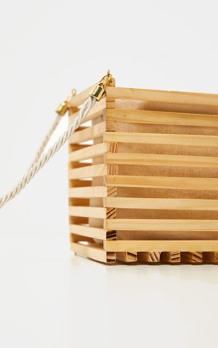 Natural Wood Cube Bag 4