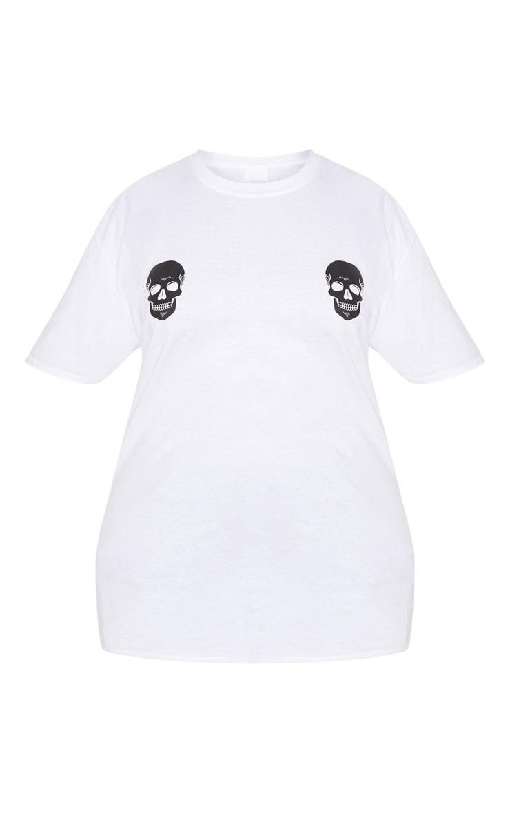 Plus White Skull T Shirt 3