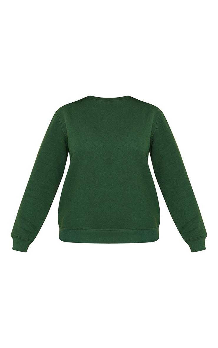 Recycled Dark Green Oversized Sweatshirt 5