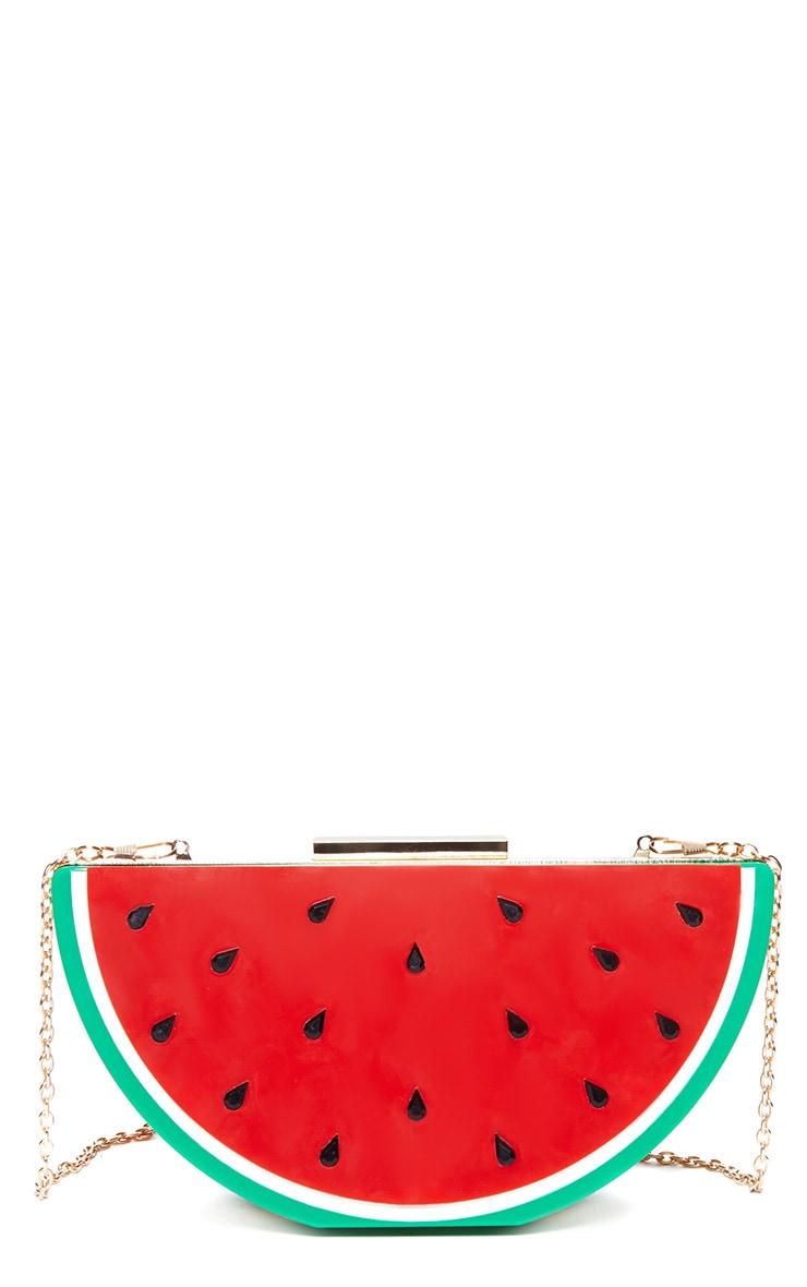 Lorian Red Watermelon Clutch 6