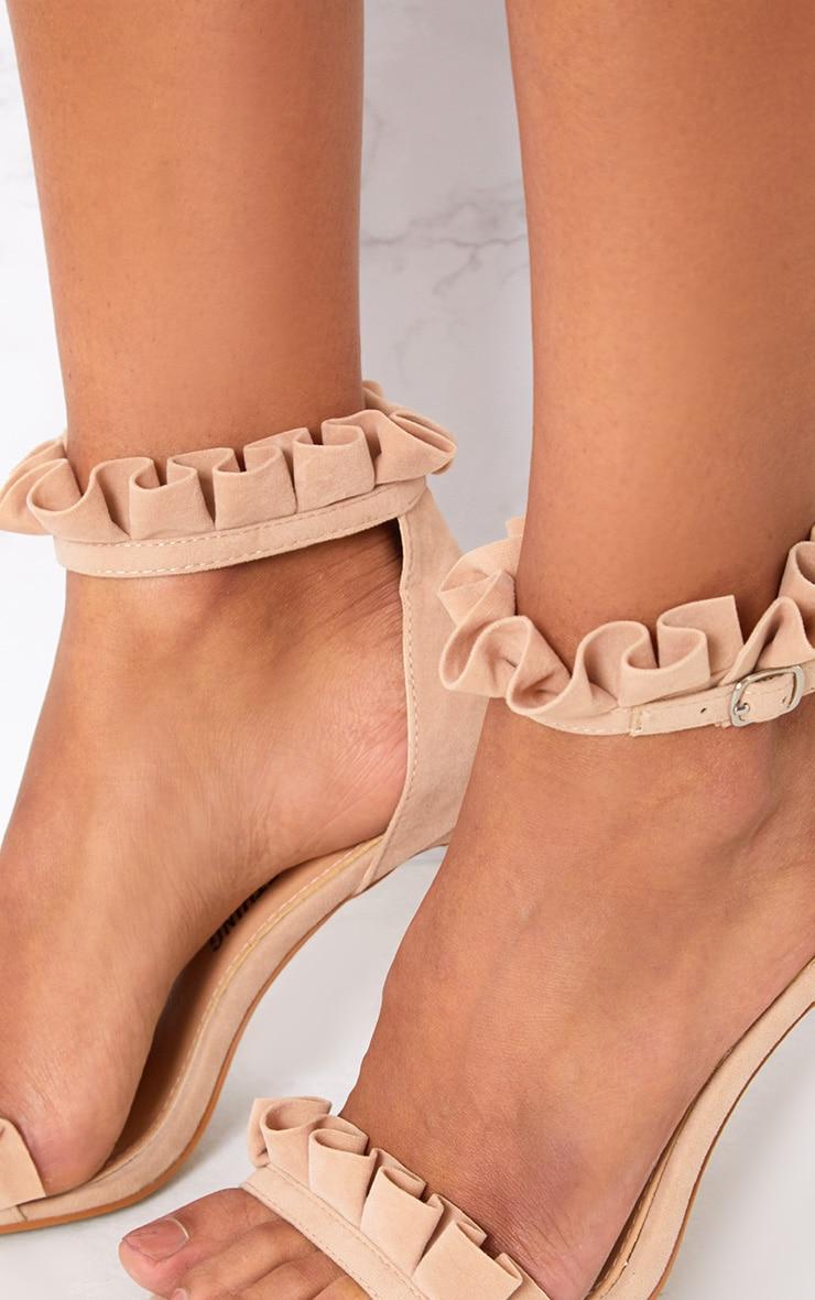 Nude Frill Strap Heels 4