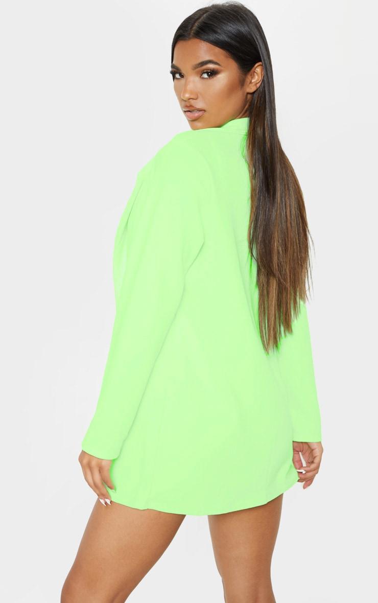 Neon Green Oversized Boyfriend Blazer  2