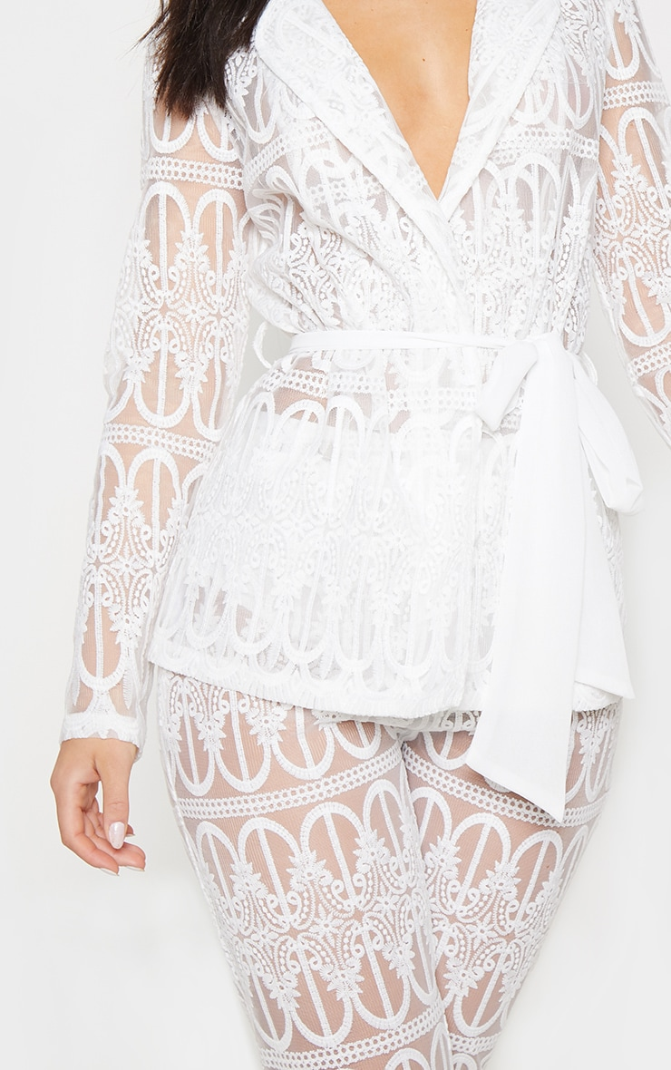 8b61ad7330f60 White Sheer Embroidered Jacket image 5