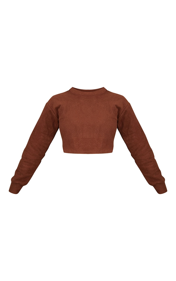 Tall Chocolate Brushed Sweat Oversized Sweater 5