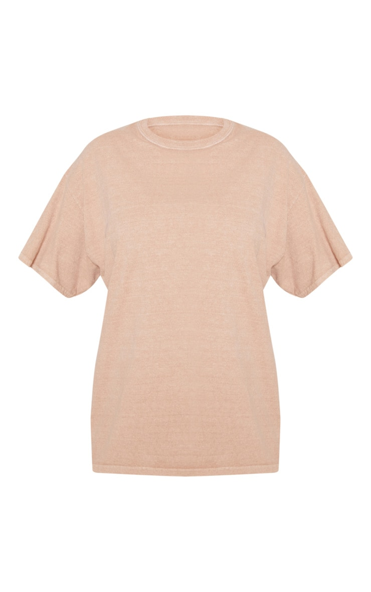 Taupe Washed Oversized T Shirt 3