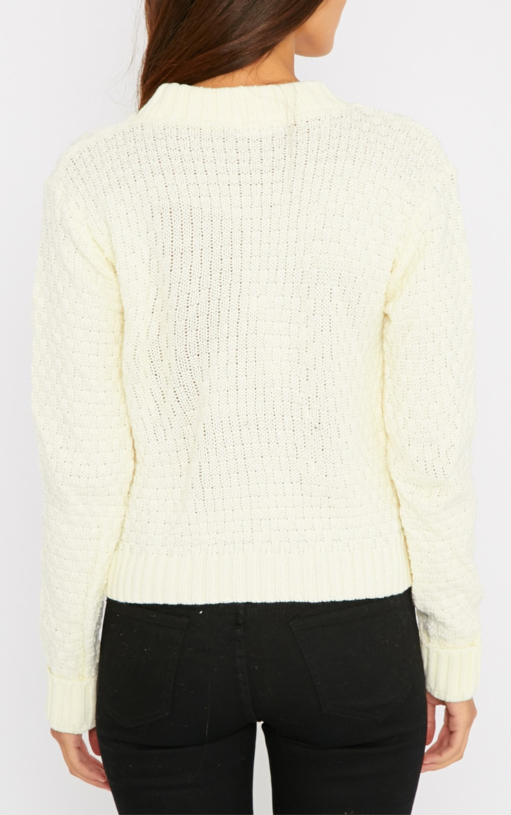 Pheebie Cream Aran Knitted Jumper  2