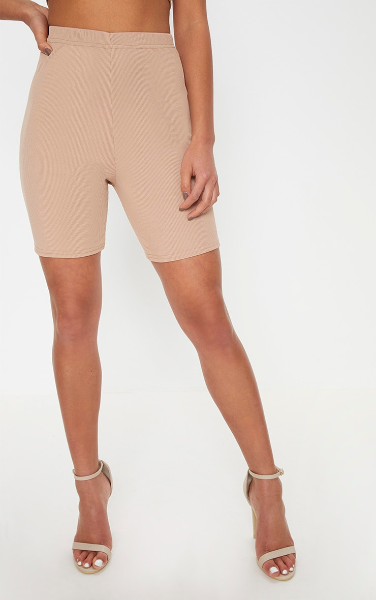 Petite Stone Ribbed Cycling Shorts 2
