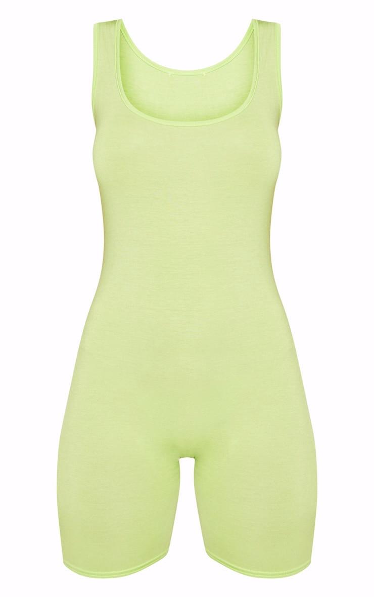 Lime Unitard 3