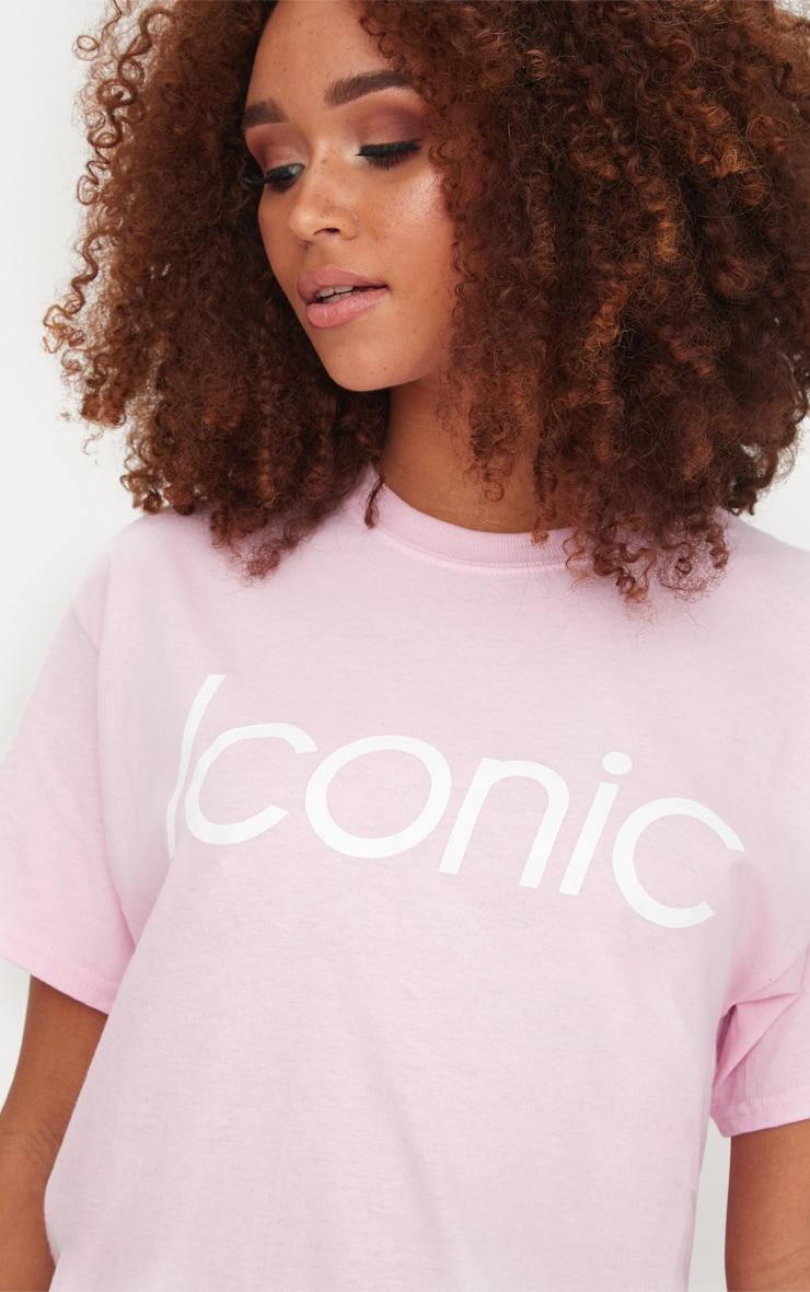 Baby Pink Iconic Slogan T Shirt 5