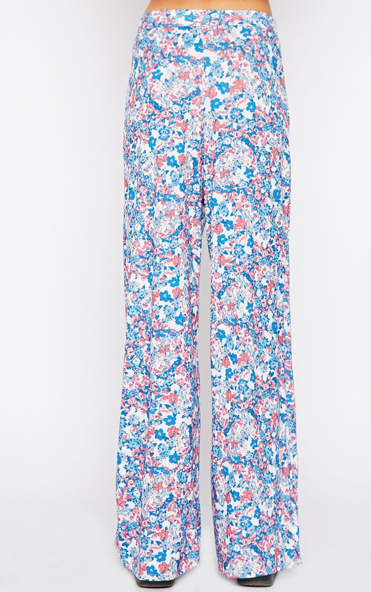 Flo Pink Floral Palazzo Pants 4
