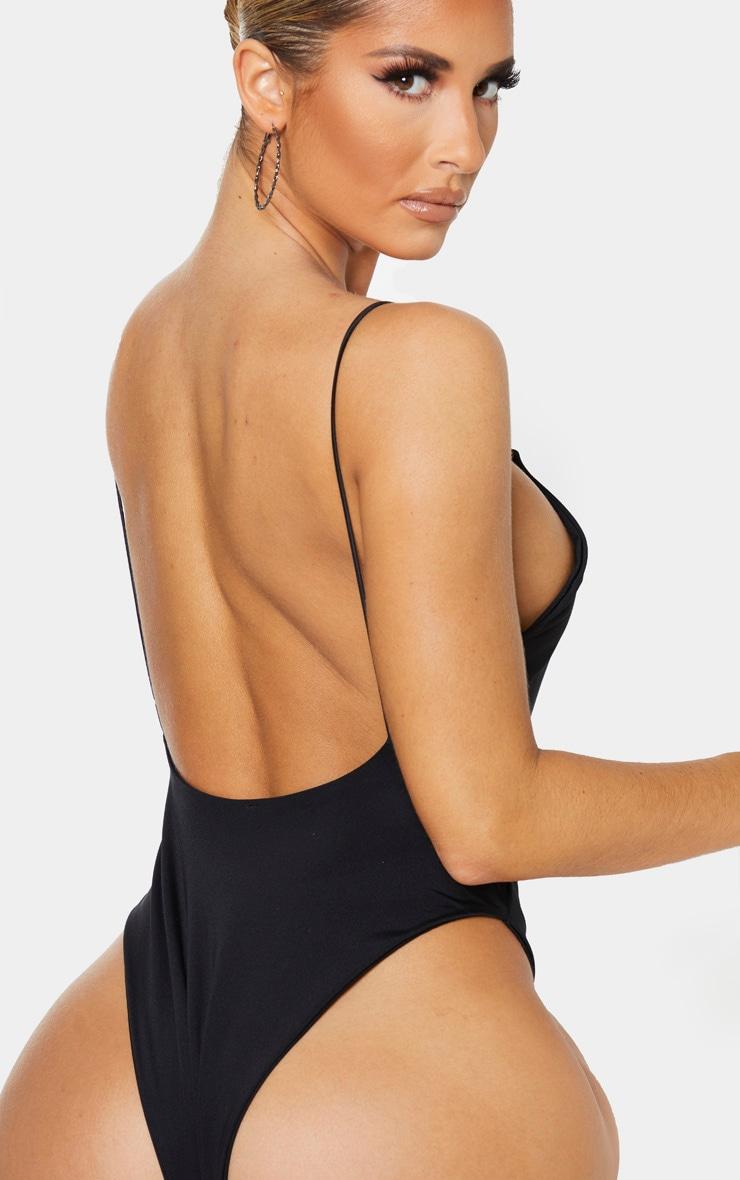 Black Skinny Strap Swimsuit 6