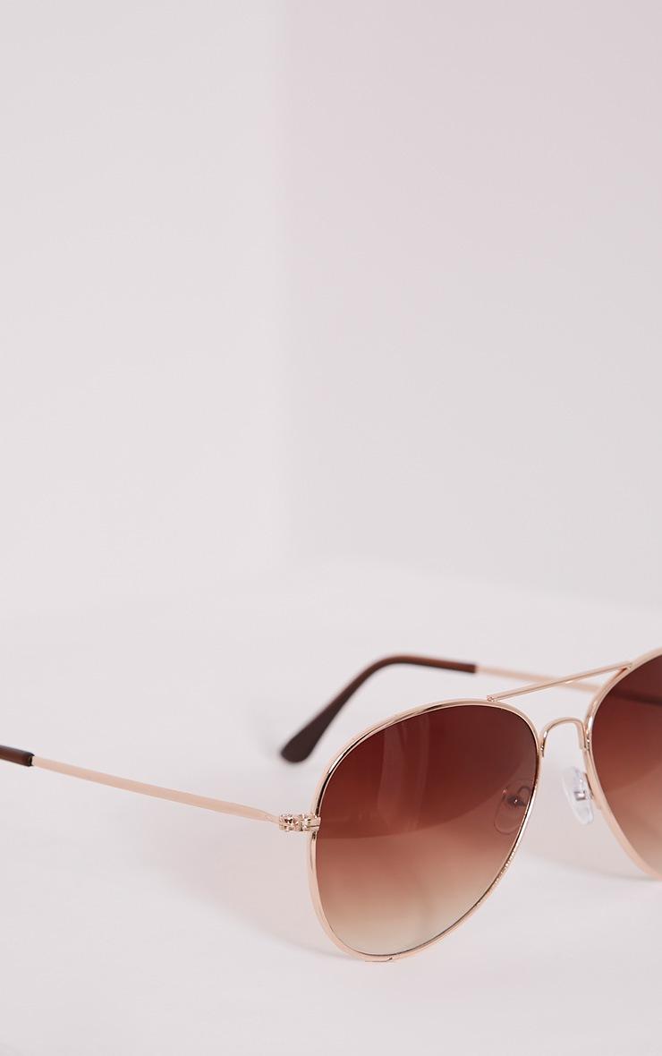 Quin Gold Tinted Aviator Sunglasses 5
