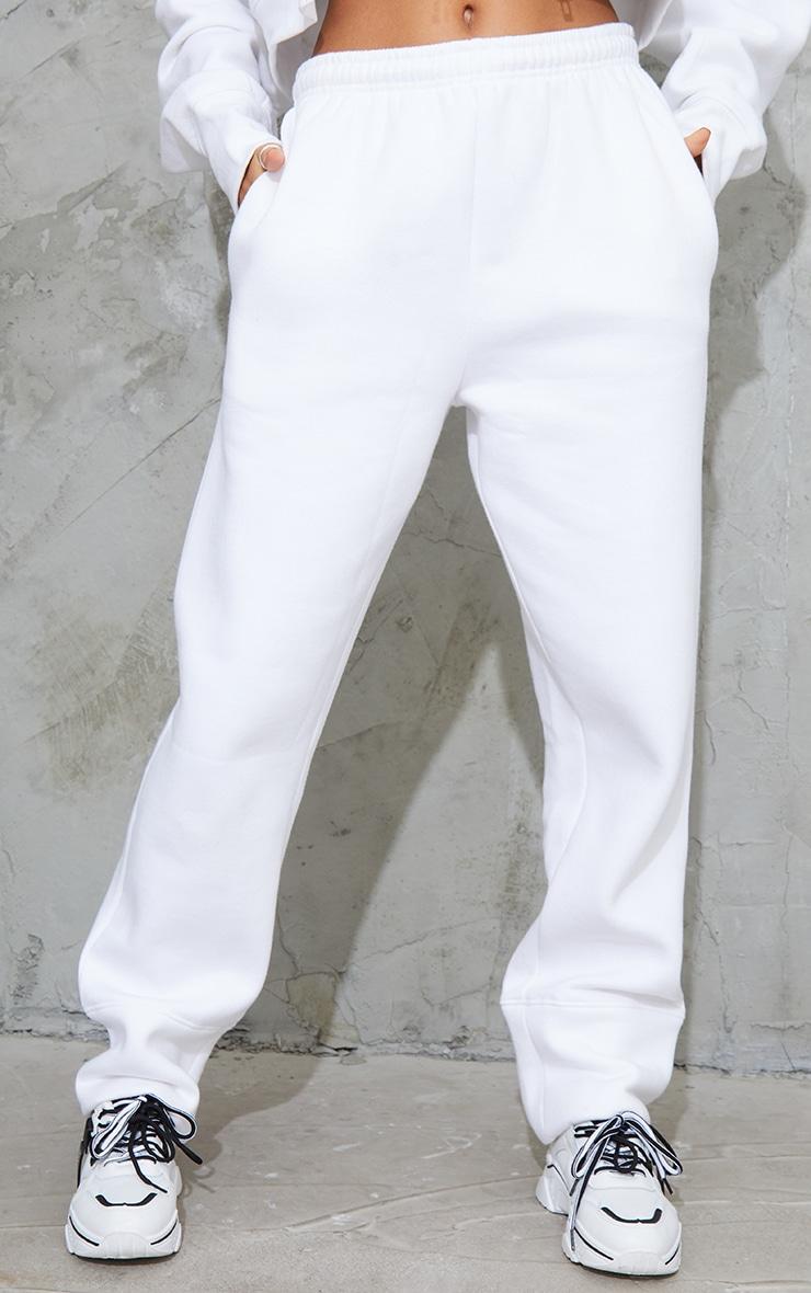 White Seam Detail Straight Leg Joggers 2