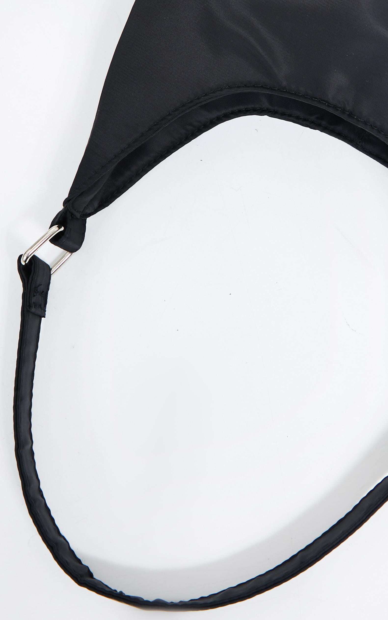 Black Slouchy Shoulder Bag 2