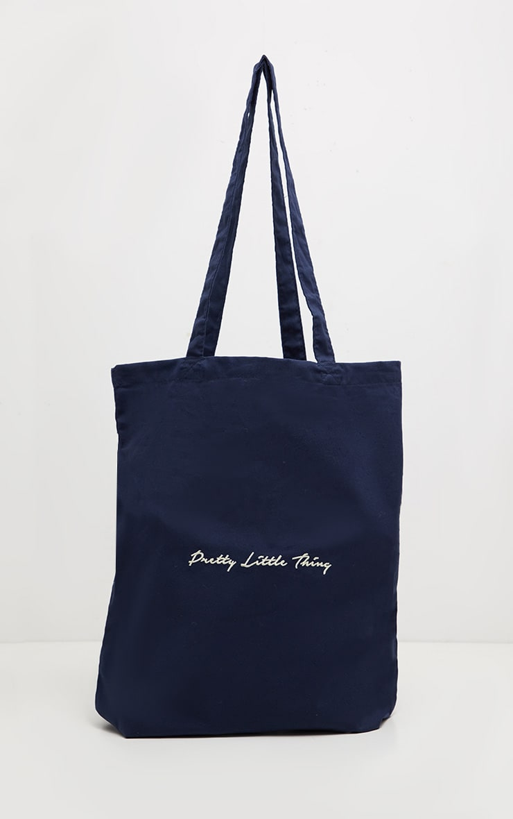 PRETTYLITTLETHING Navy Tote Bag 2