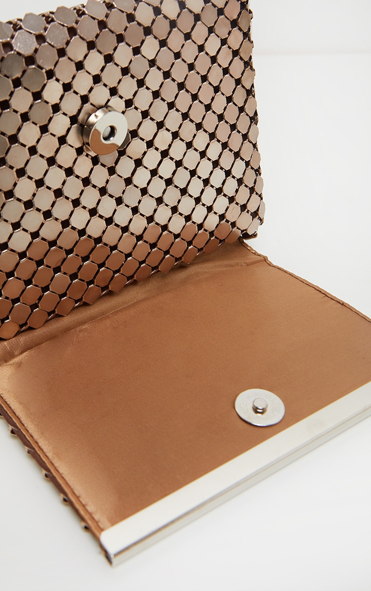 Bronze Chainmail Style Clutch Bag 2