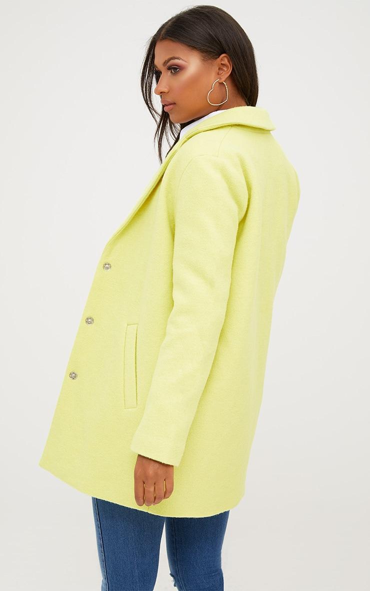 Lime Wool Coat 2