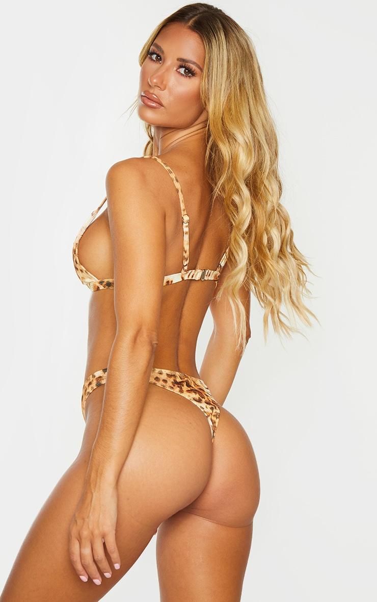 Leopard Mix & Match Ribbed Triangle Bikini Top 2