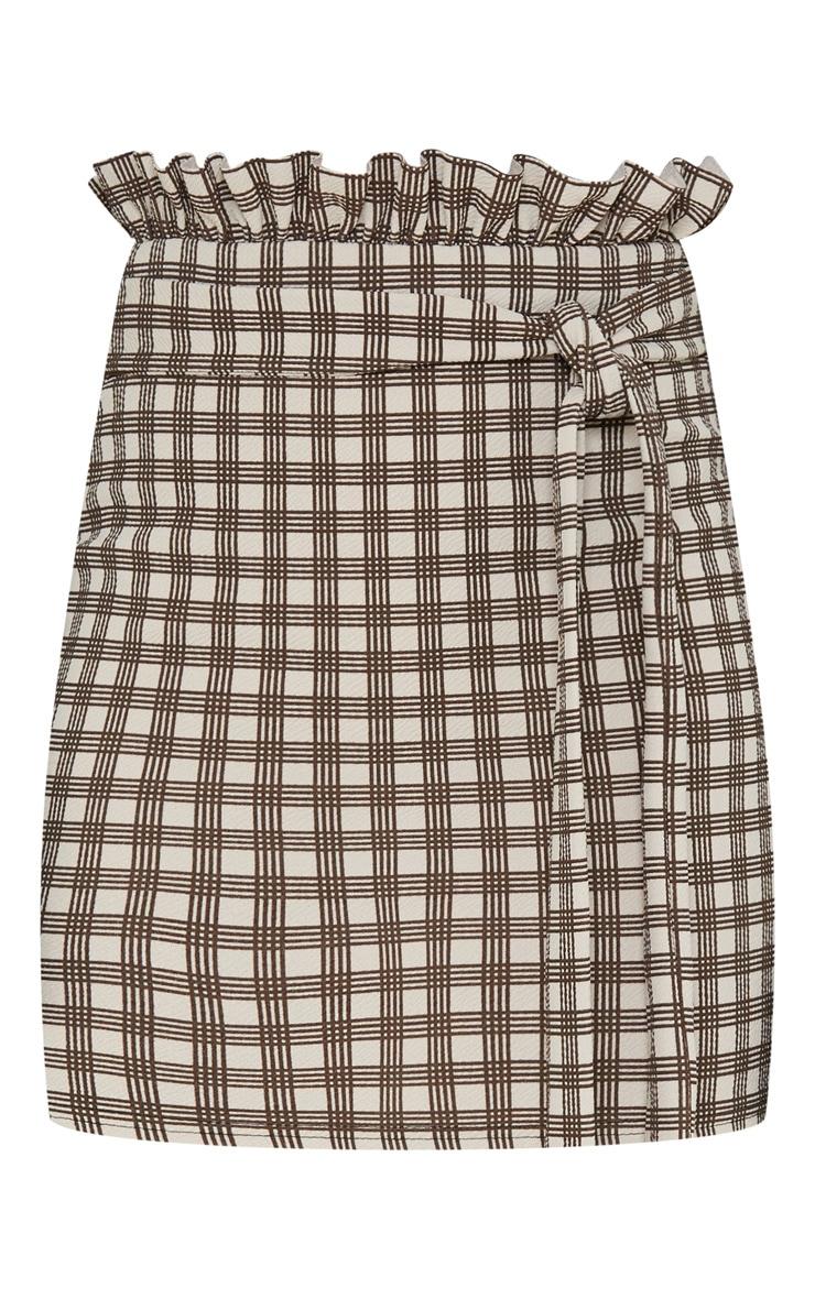 Stone Check Paperbag Mini Skirt 3