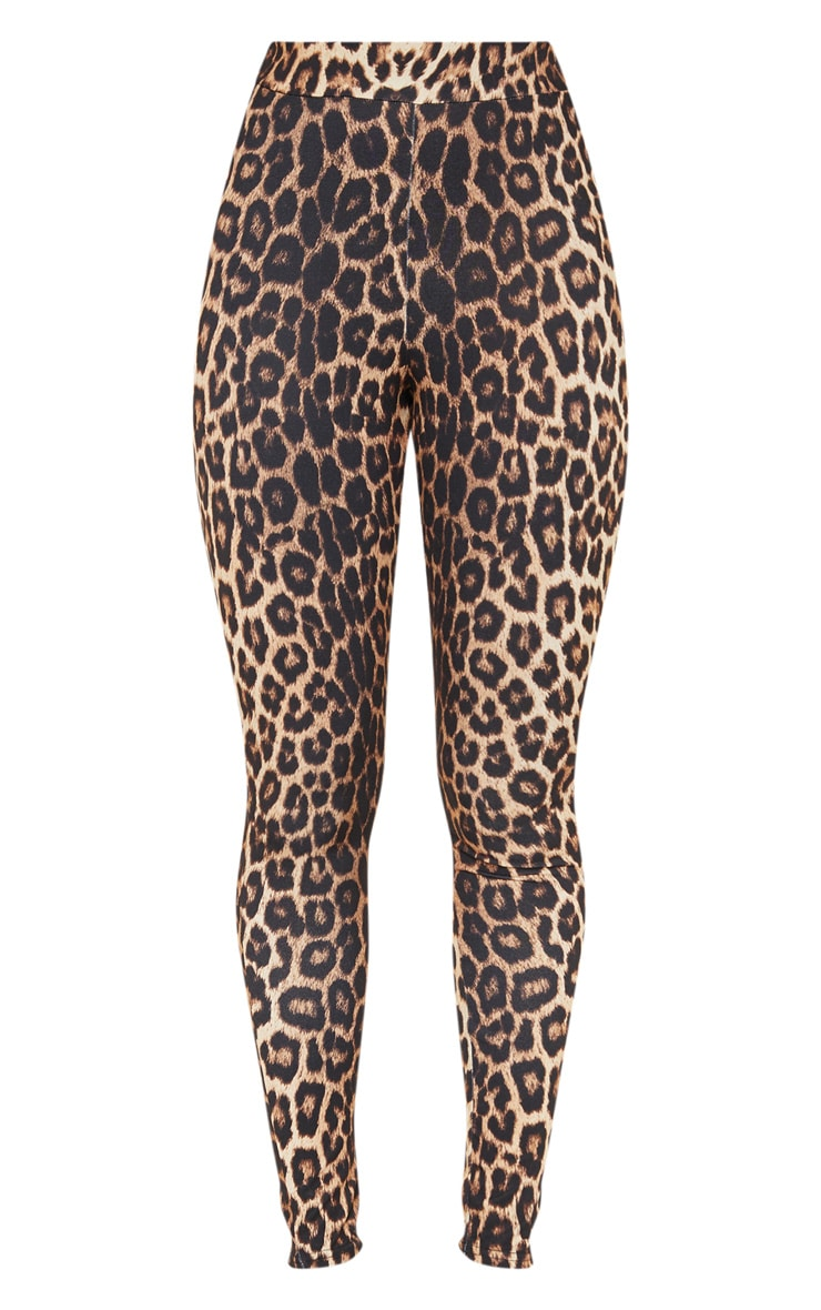 Leopard Print Ruched Bum Detail Legging 3
