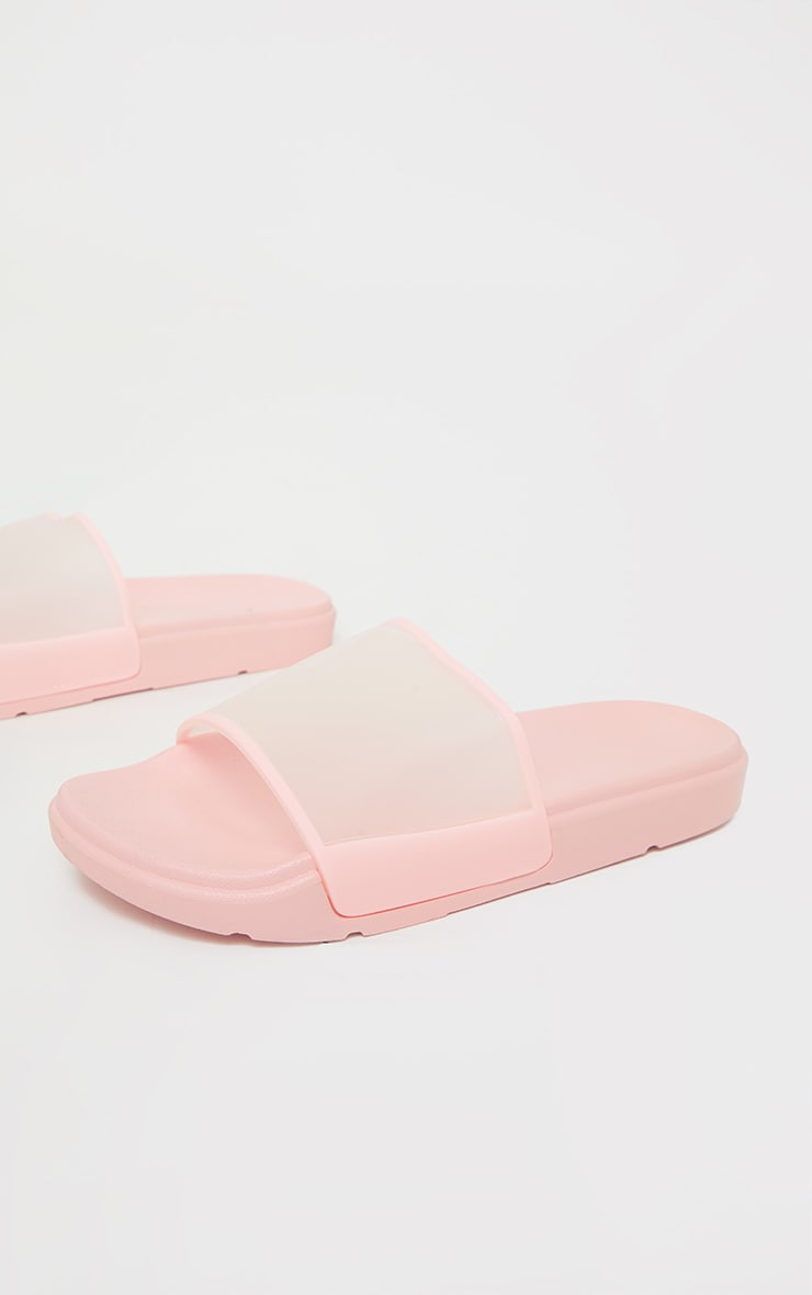 Pink Transparent Chunky Sliders 4