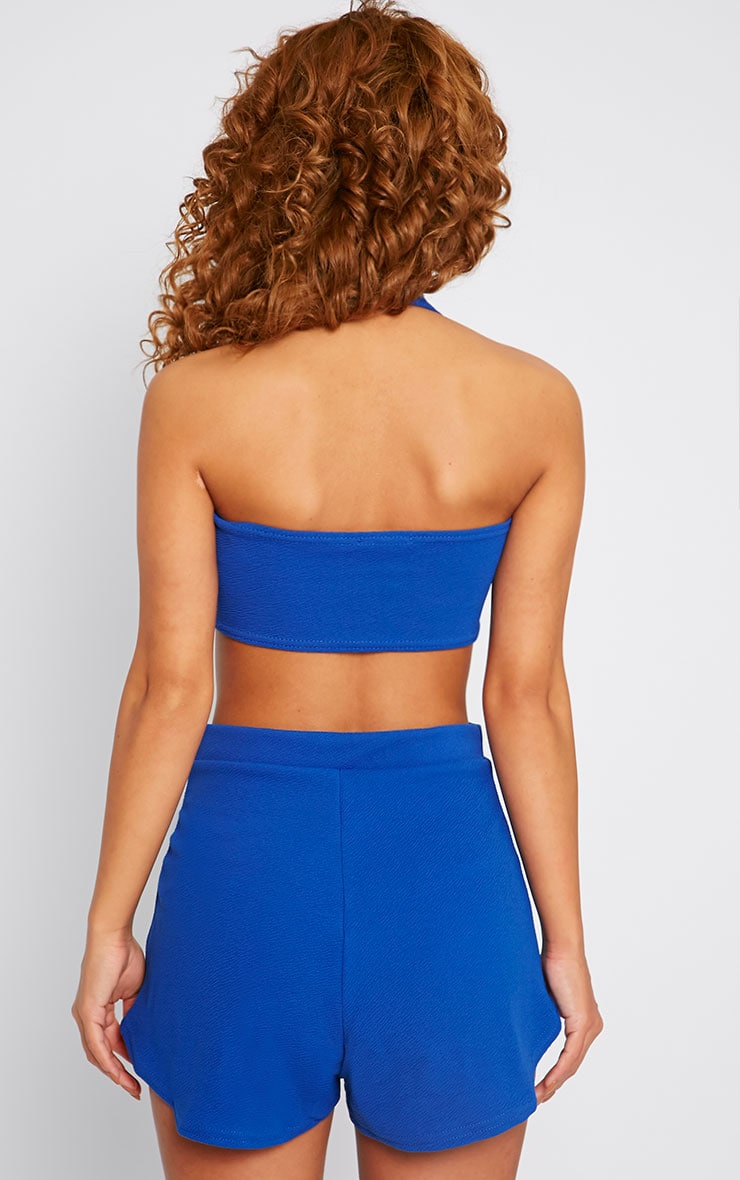 Alessandra Cobalt Cut Out Playsuit  2