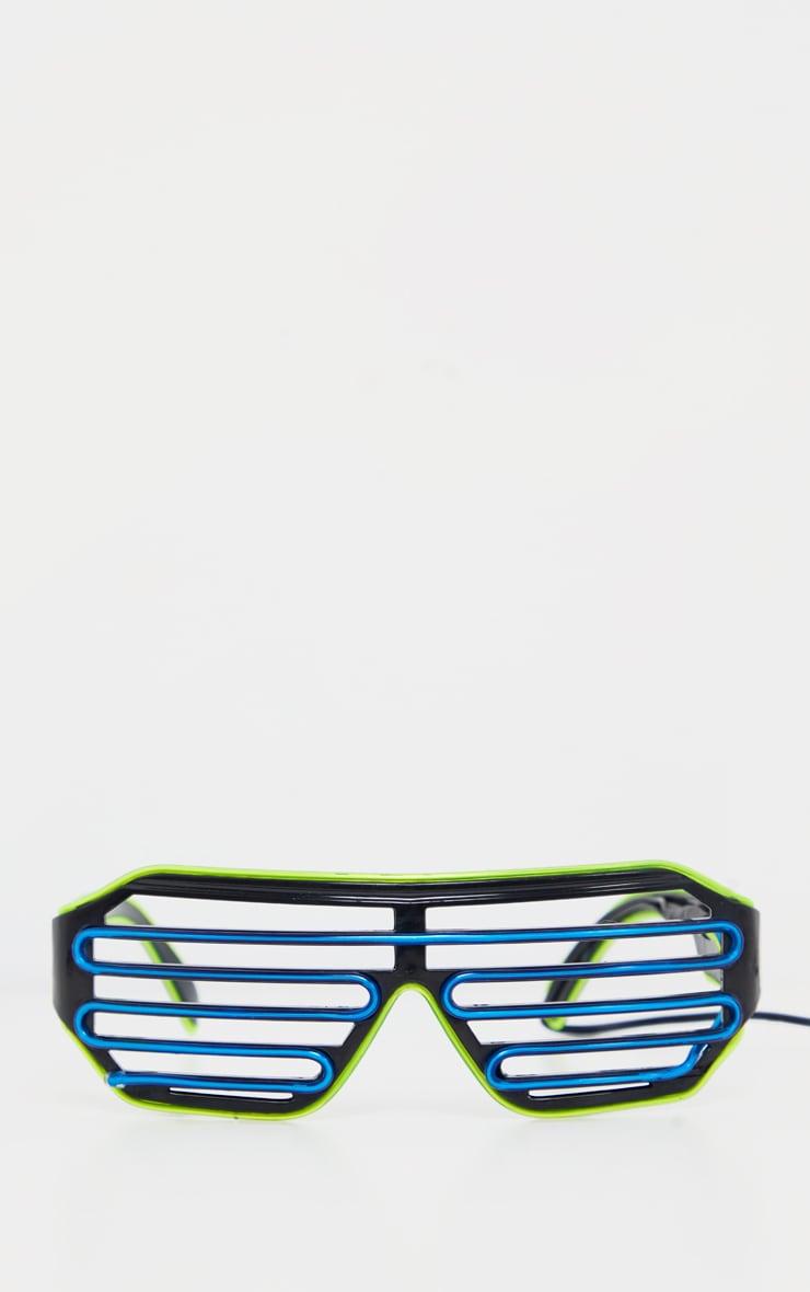 Multi Neon Flashing LED Glasses 2