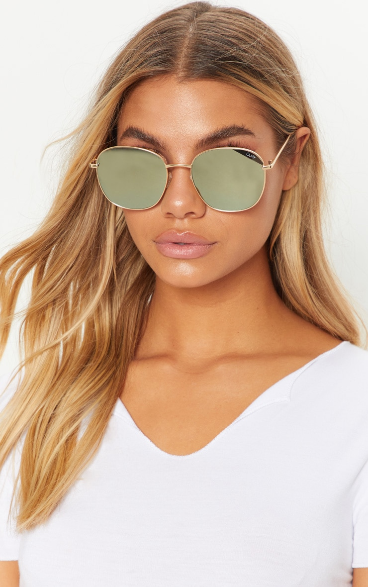 86f1ca9b8f QUAY AUSTRALIA Gold Jezabell Sunglasses image 1