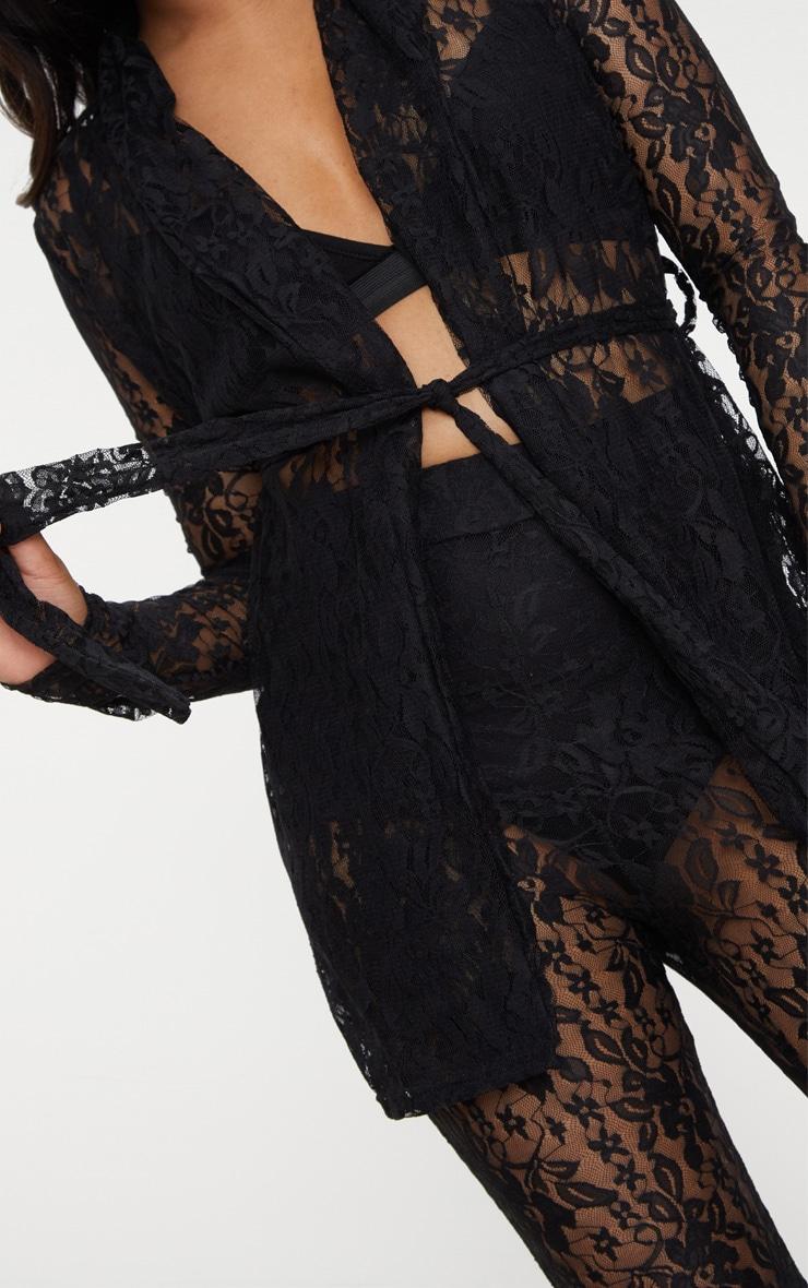 Petite Black Lace Blazer 5