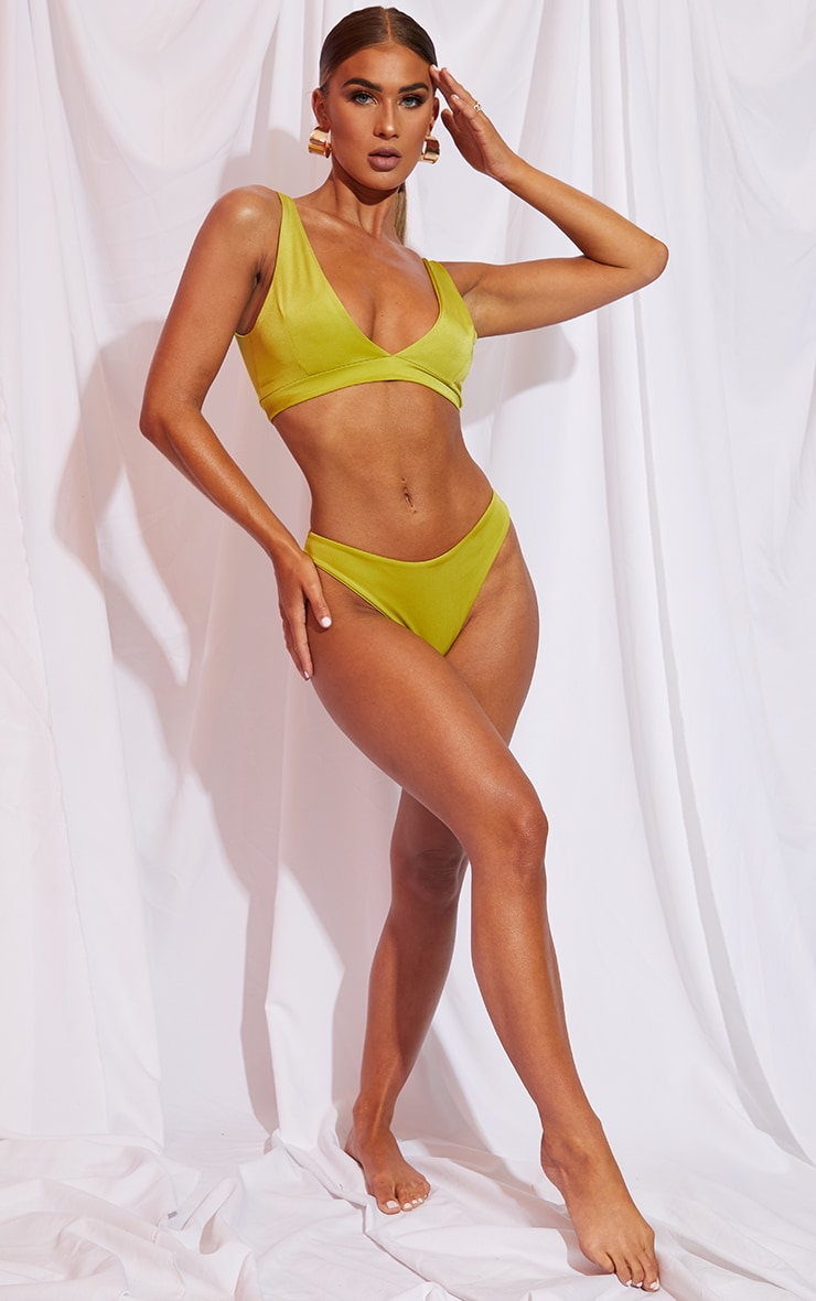 Olive Mix & Match Cheeky Bum Bikini Bottom 3