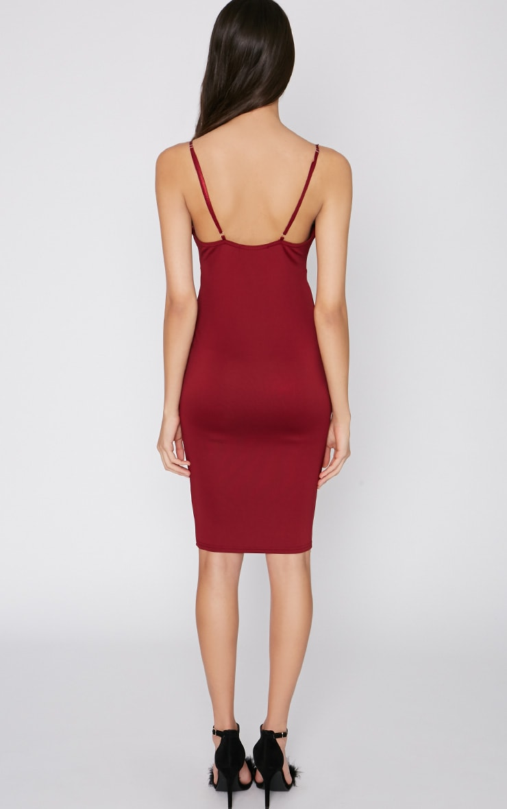 Mylee Wine Midi Dress 2