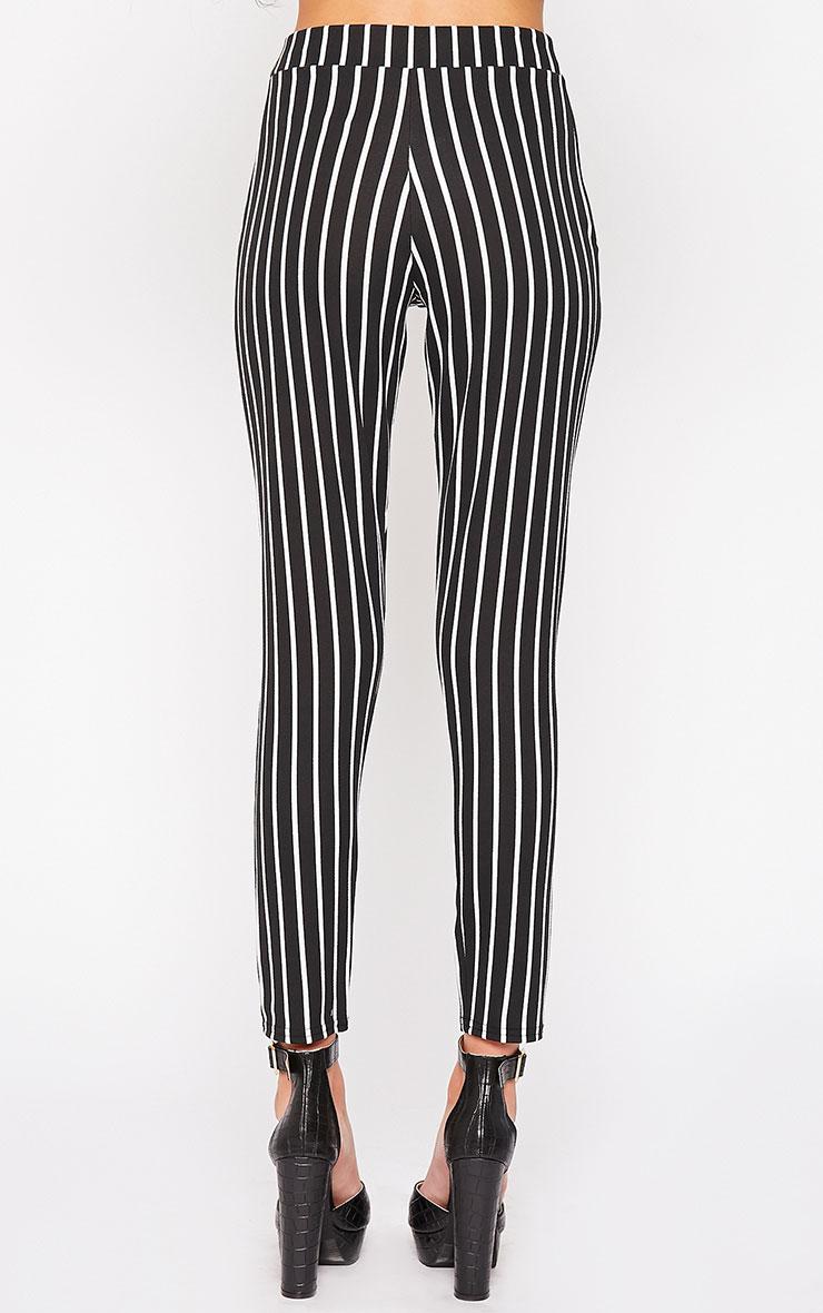 Jakoba Black Pinstripe Trousers 4