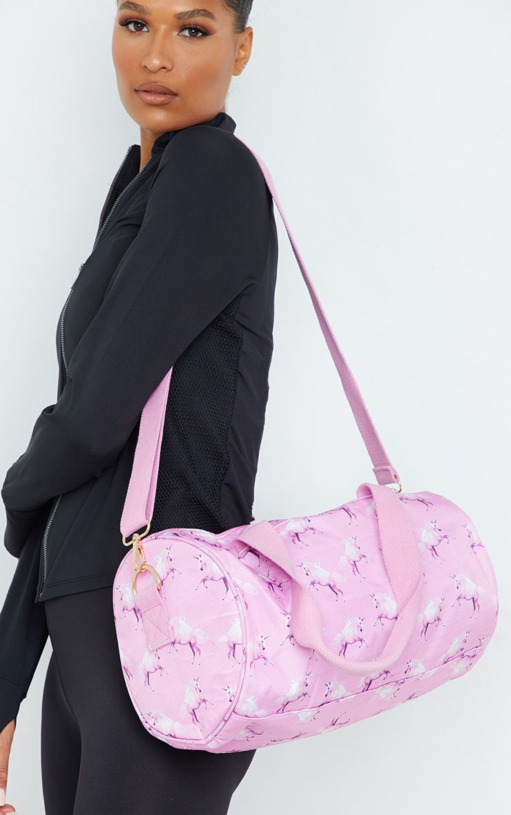 PRETTYLITTLETHING Unicorn Pink Gym Bag 1
