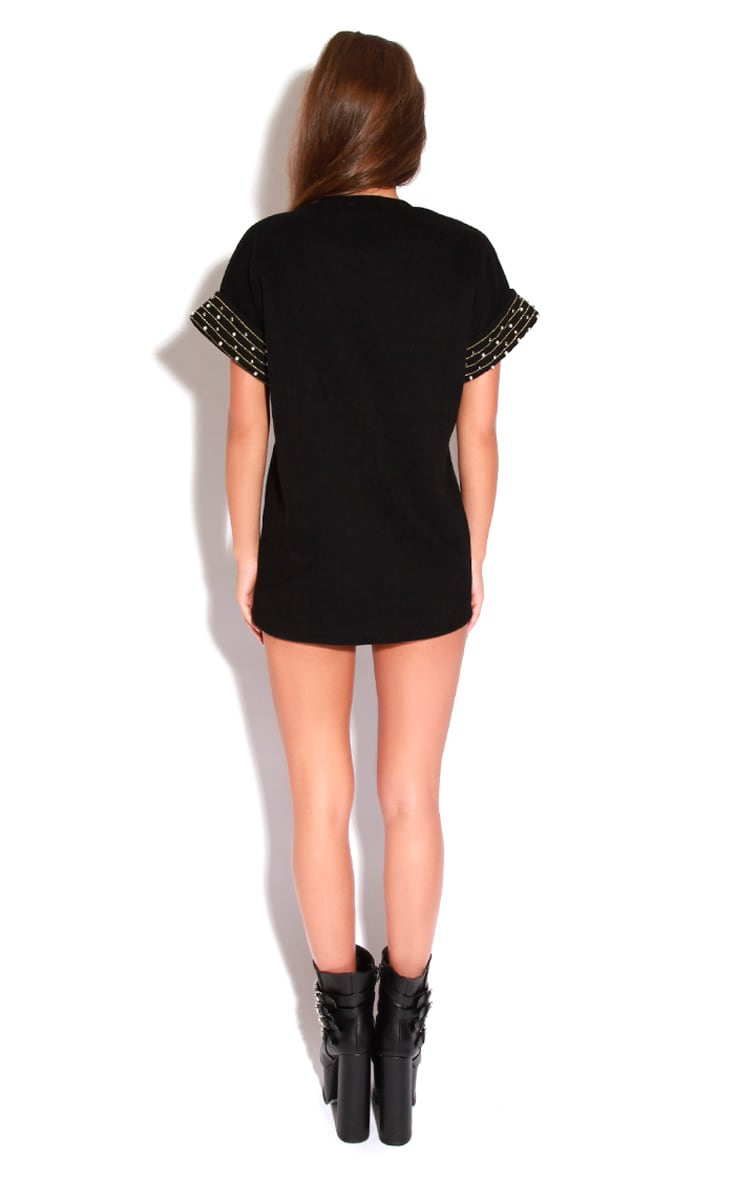 Samantha Black Beaded Jumper 3