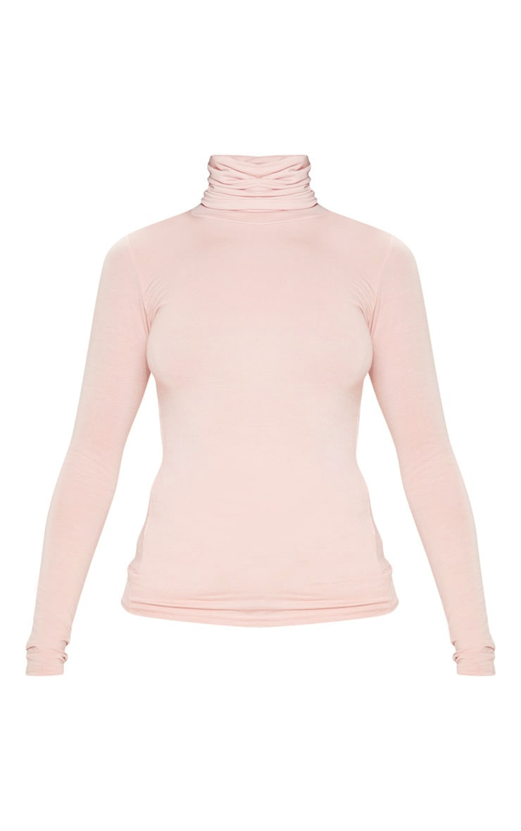 Basic Nude Long sleeve Roll Neck Top 3