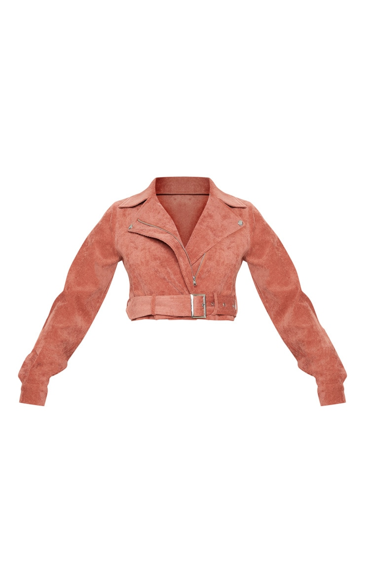 Peach Cord Biker Jacket 3