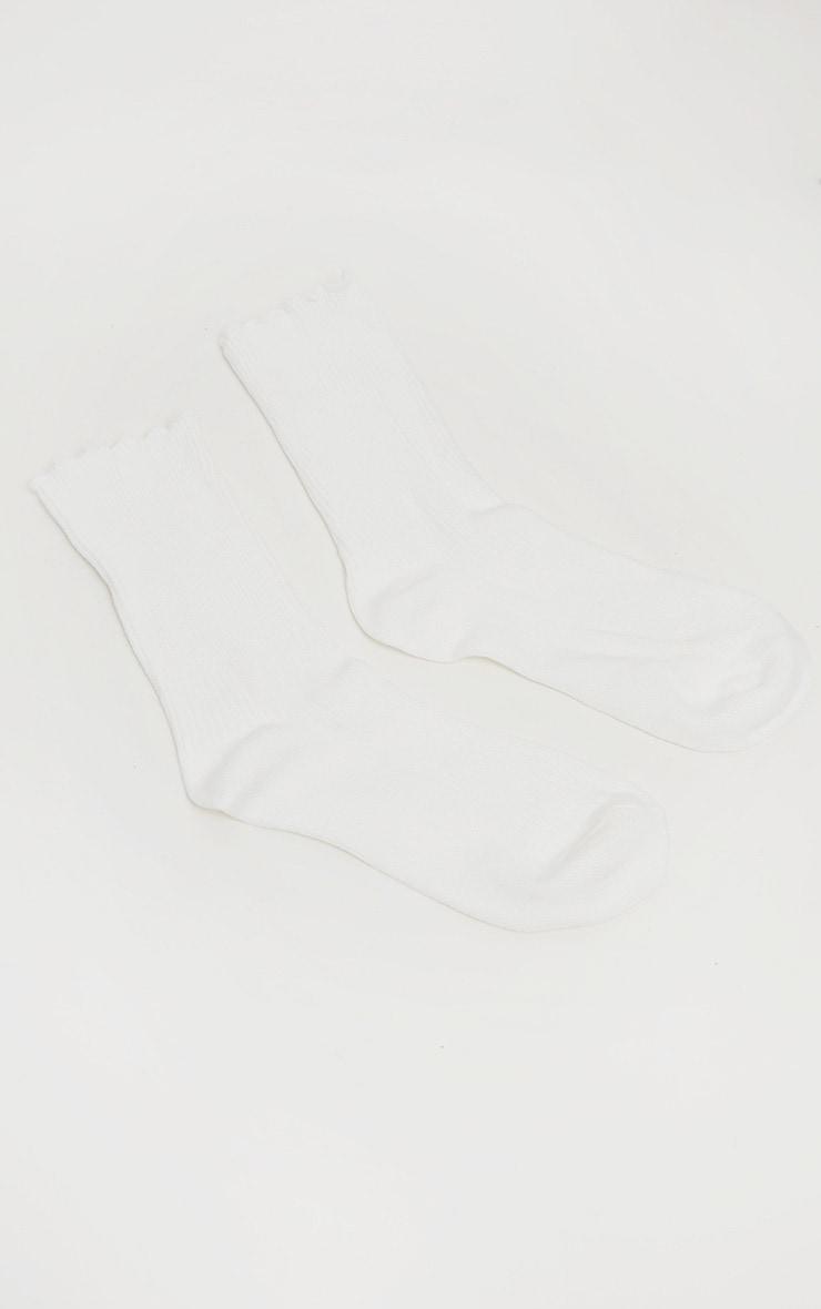 White Frill Socks 3