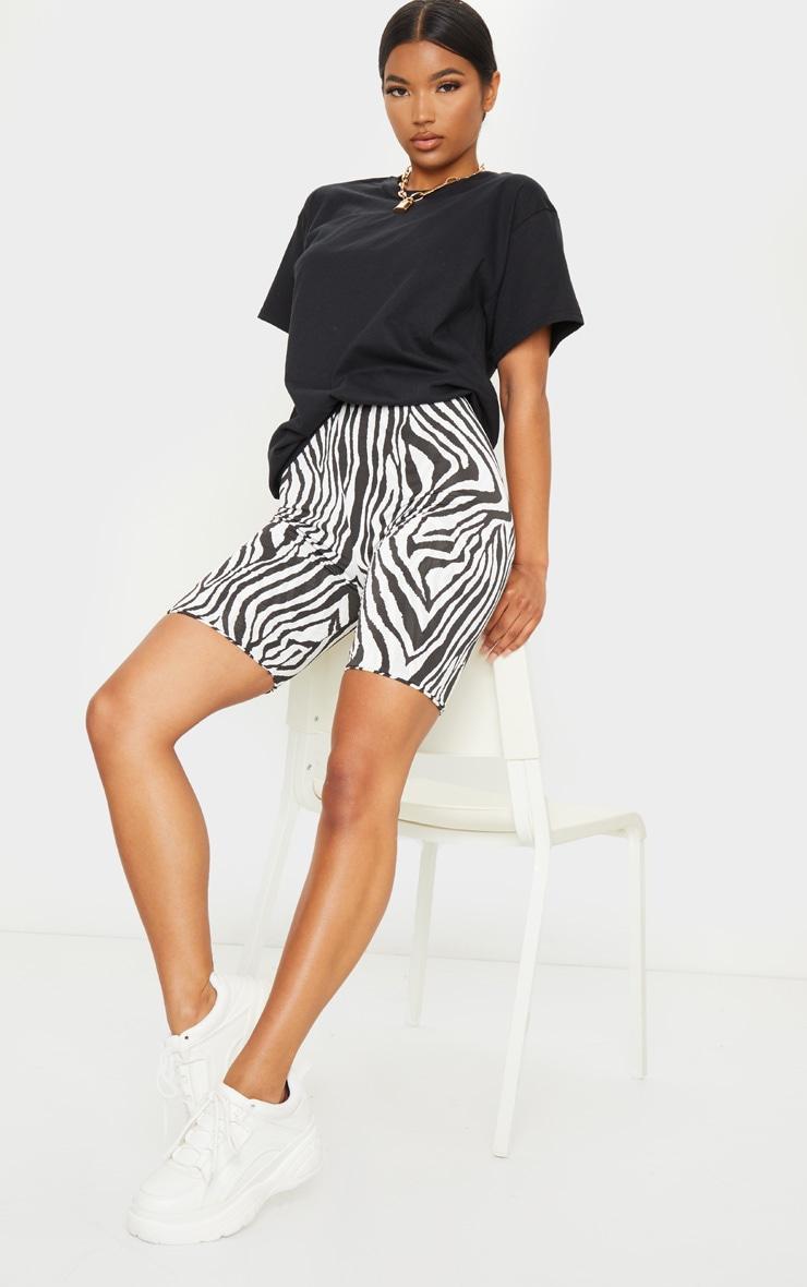 Black Zebra Slinky Bike Shorts 1