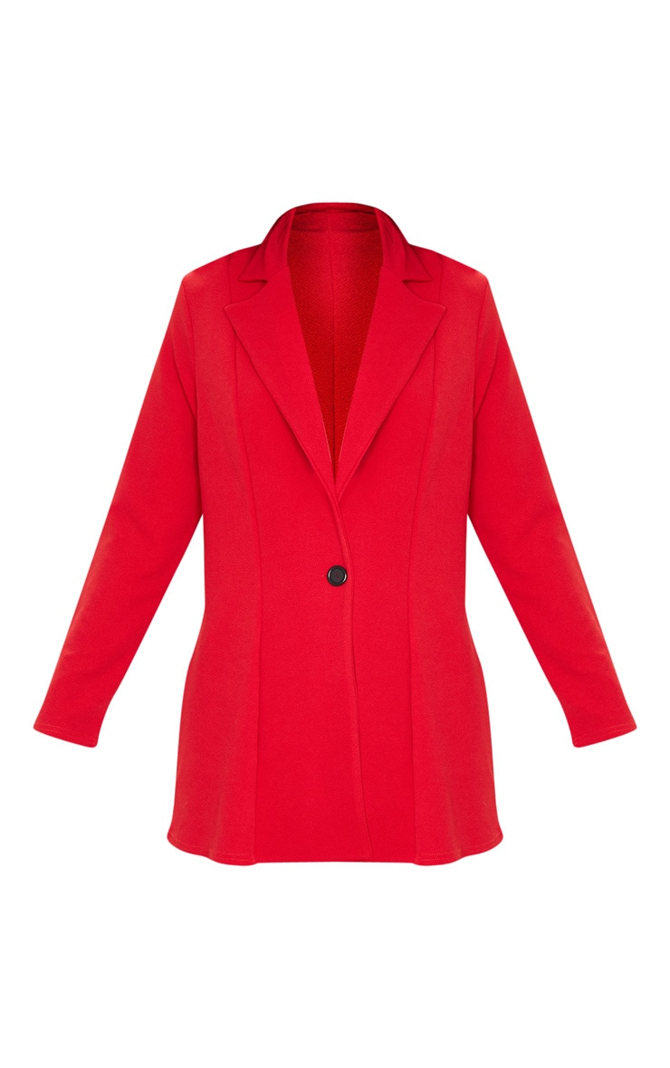 Red Oversized Boyfriend Blazer 3