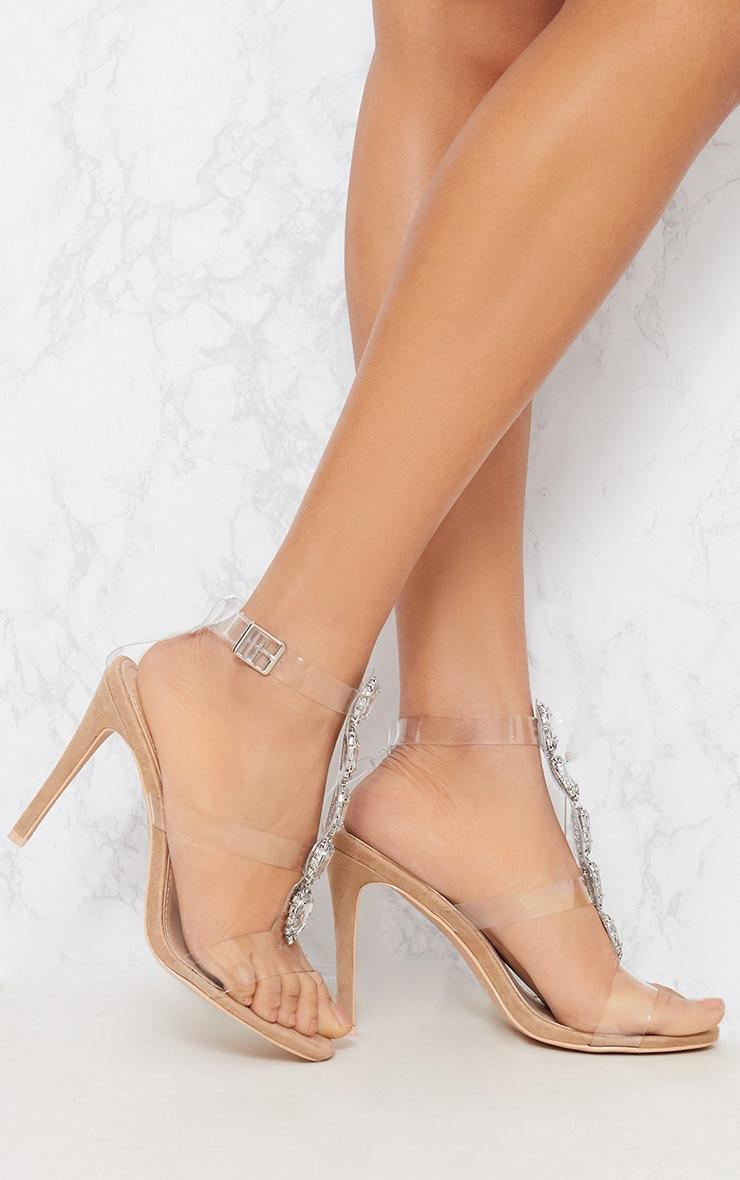 Nude Jewel Heel Sandal 2