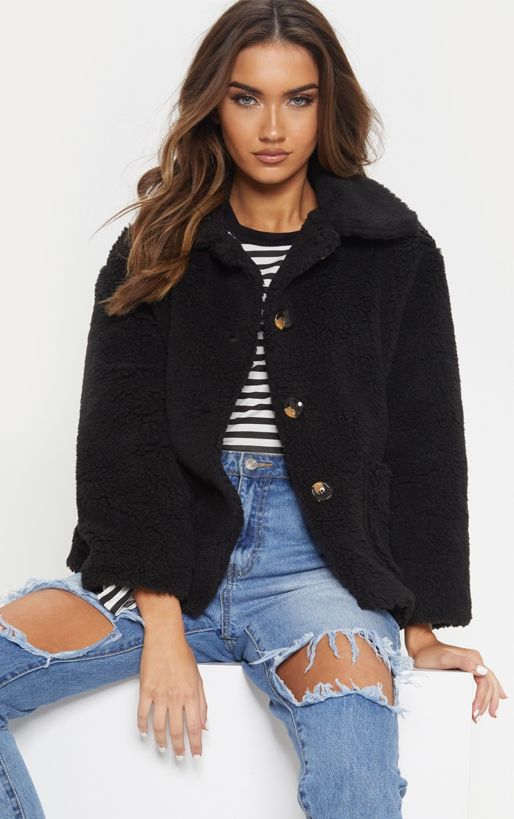 Black Borg Cropped Jacket
